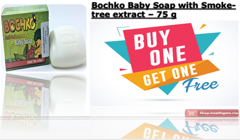 BUY ONE GET ONE FREE BOCHKO Baby Soap with smoke-tree extract - 75 g