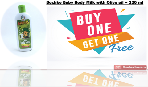 BUY ONE GET ONE FREE BOCHKO Baby Body Milk with olive oil - 200 ml
