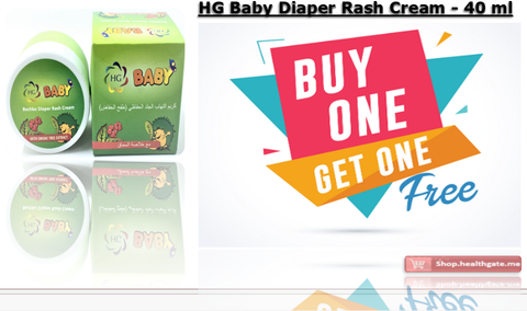 BUY ONE GET ONE FREE HG Baby Diaper Rash Cream - 40 ml