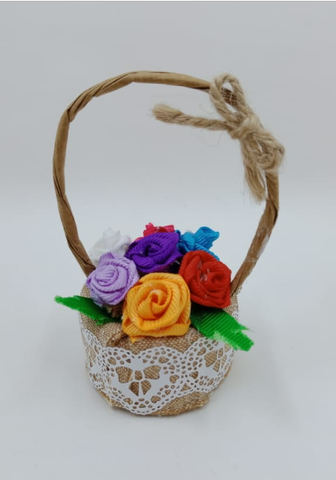 Handmade Decorative Gift Baskets with Flowers