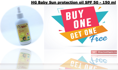 BUY ONE GET ONE FREE HG Baby Sun protection oil SPF 50 - 150 ml