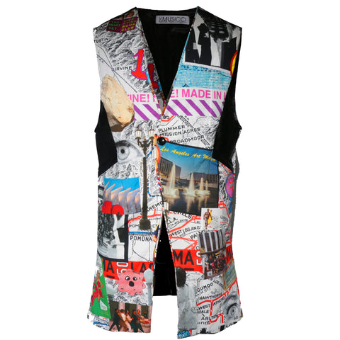 Long sleeveless Libertine printed Jacket