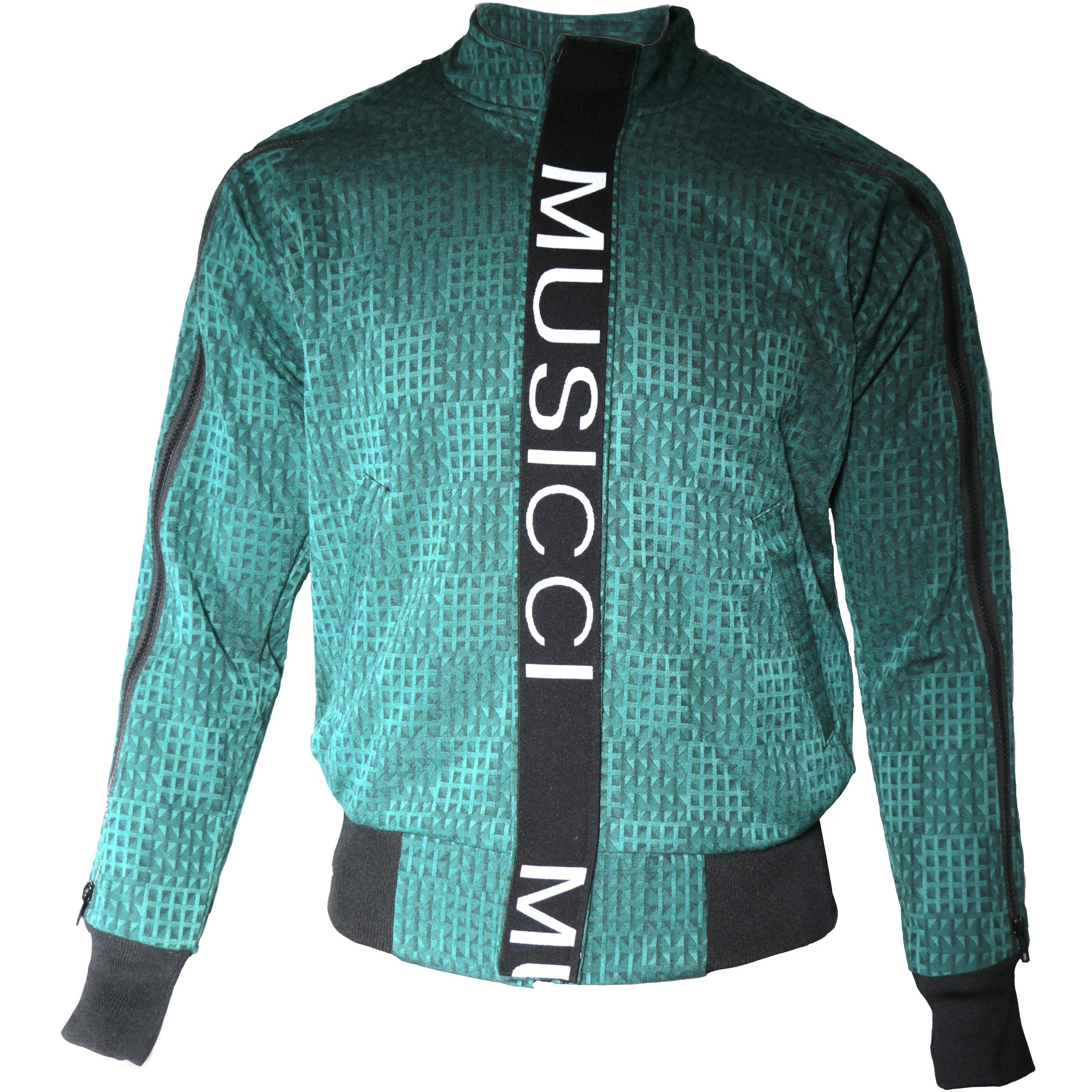 Green modern zipper jacket
