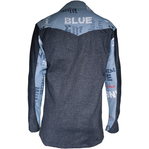 Duo tone Stretchy Denim sport Jacket