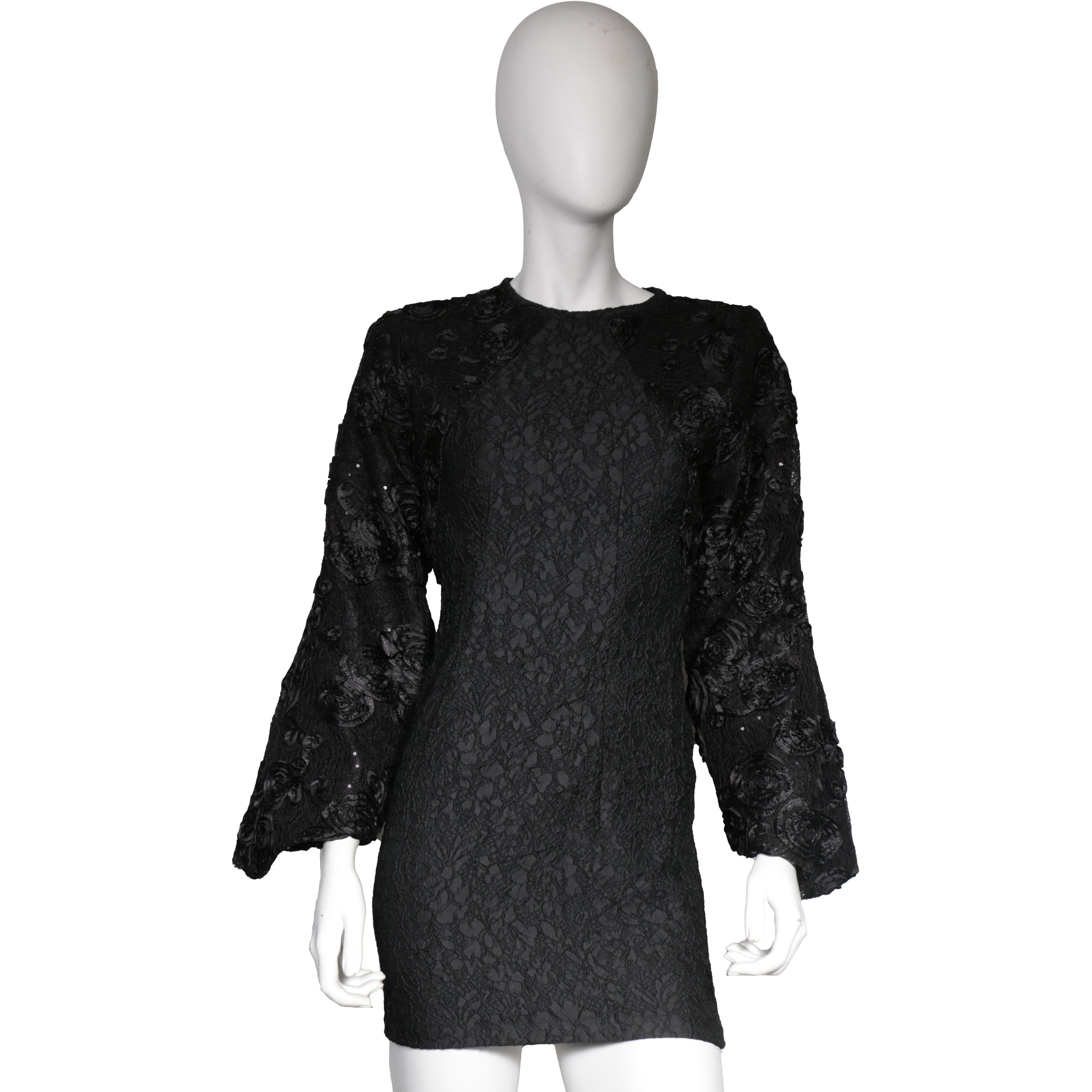 Black Structured lace dress