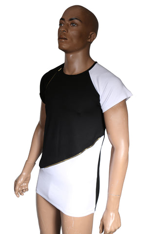Nova fashion t-shirt with zippers