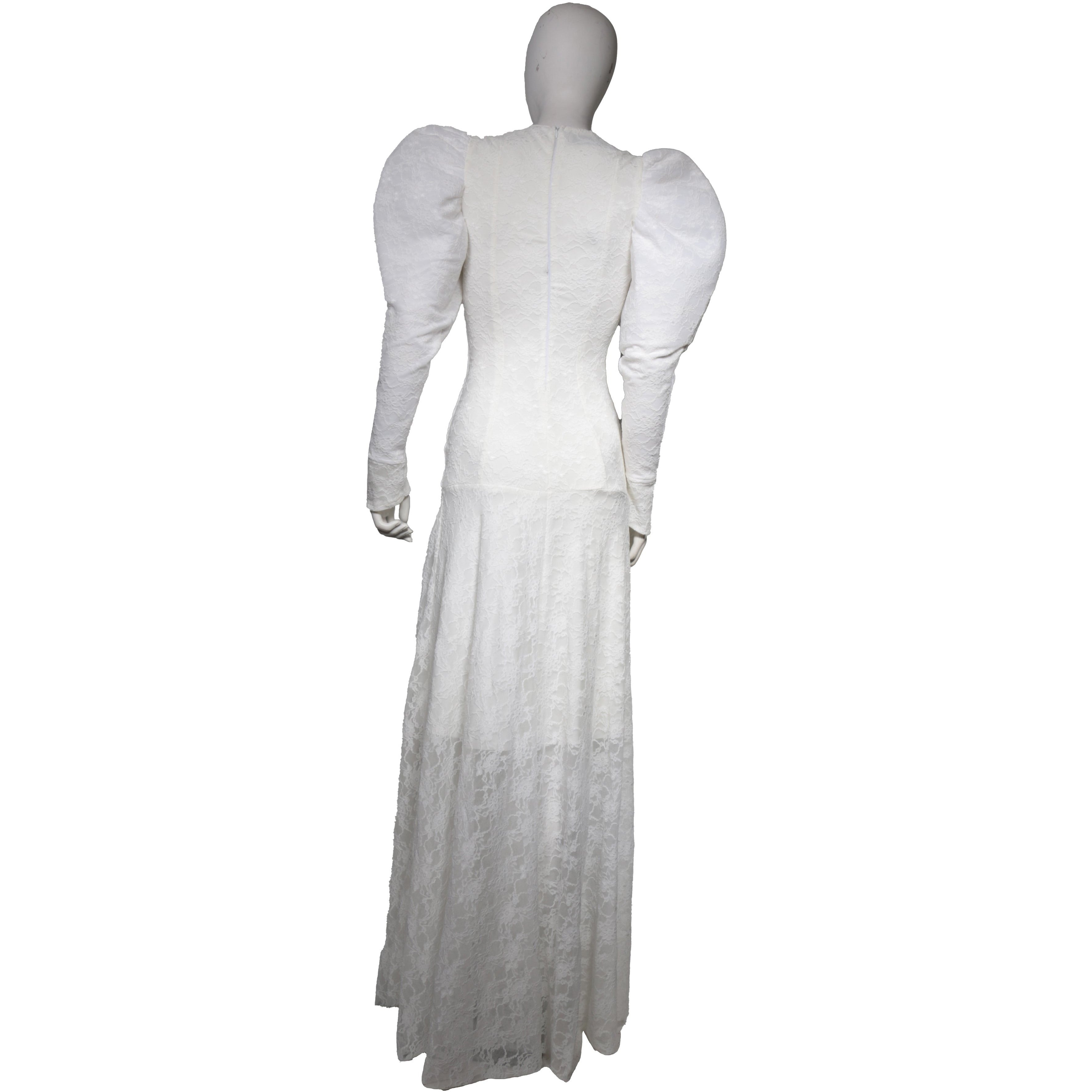 Futuristic angelic gown