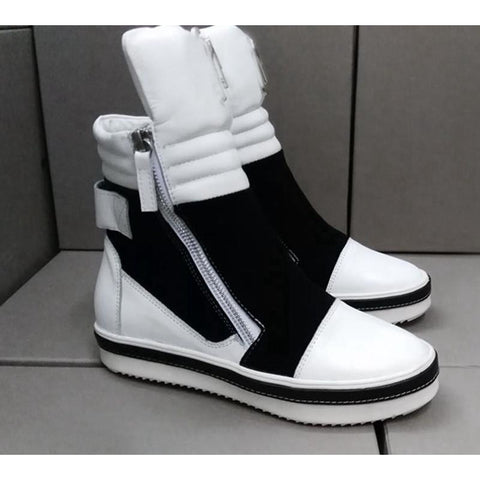 Black and White High top Sneaker