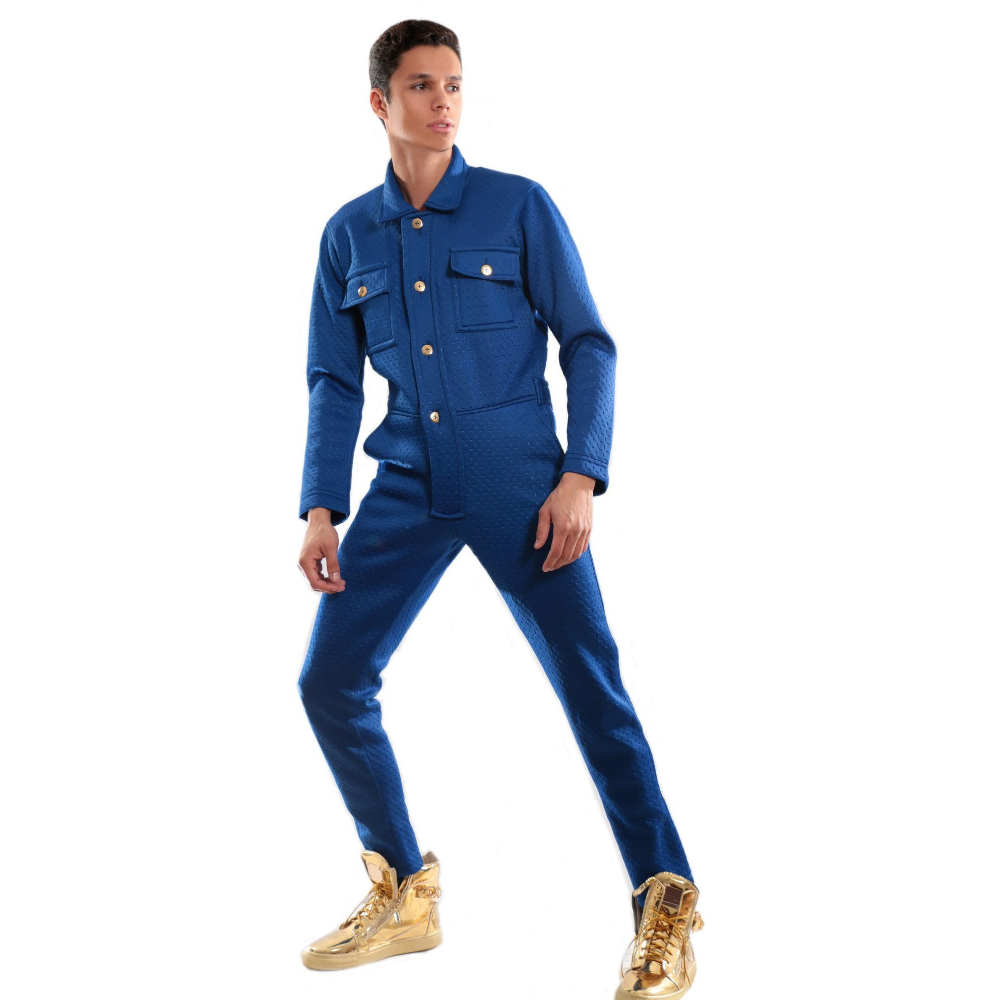 Blue 3D Printed Scuba jumpsuit