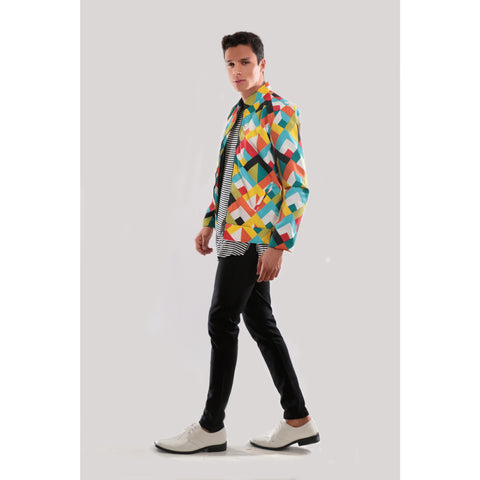 Multicolor 3D Print Jacket