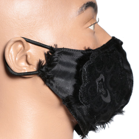 Black textured mask