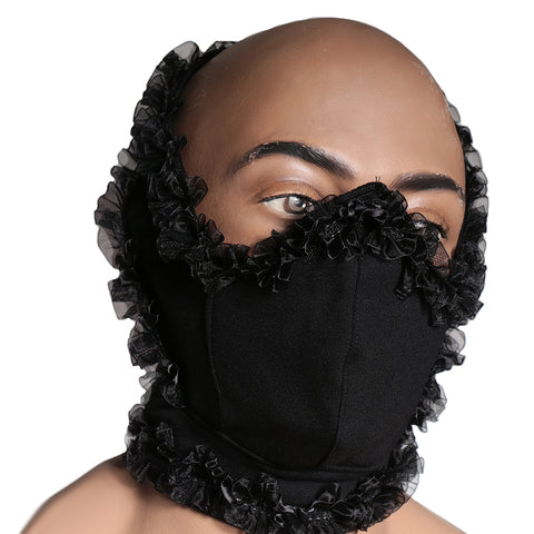 Black floral stylish mask