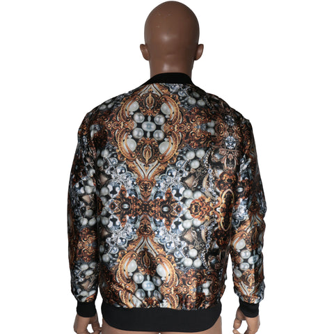 Bomber Jacket with abstract prints