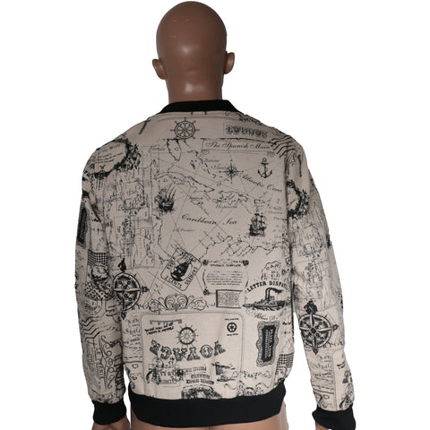 Bomber Jacket with Graphic writings