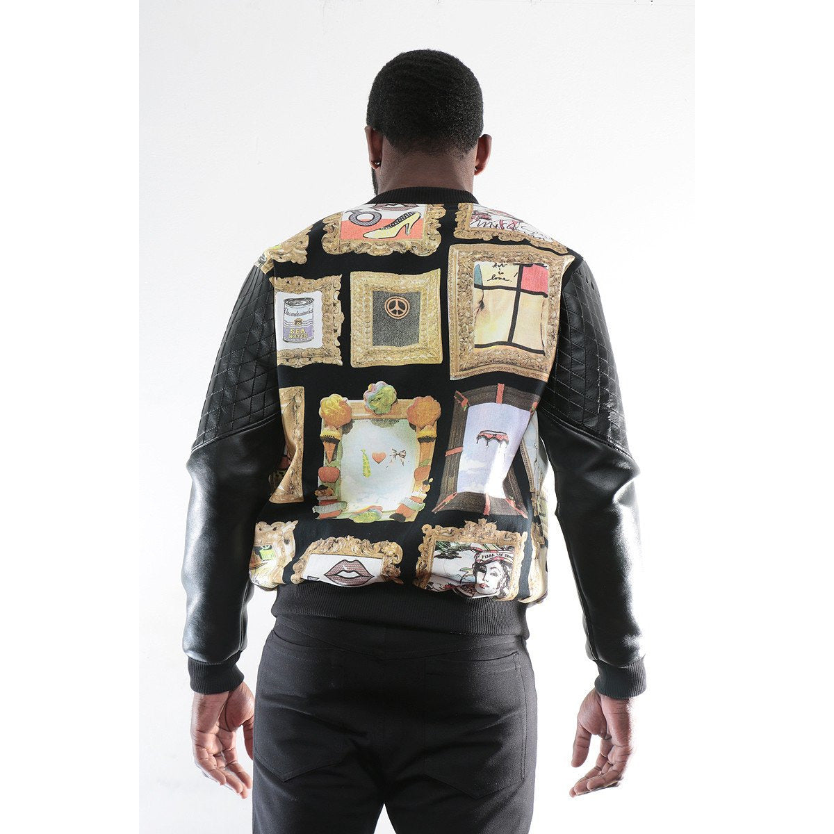 Bomber Jacket with Modern image imprint