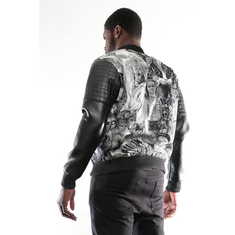 Bomber Jacket with Historical image imprint