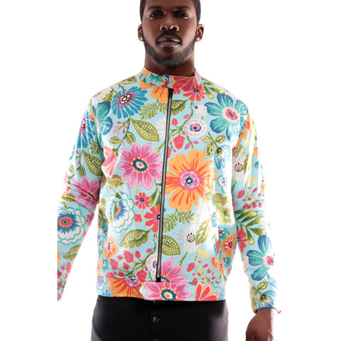 Floral Bomber Jacket with 3D Print