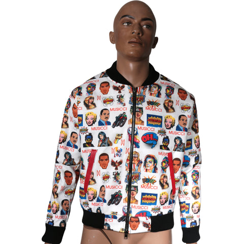Bomber Jacket with Musicci custom prints I