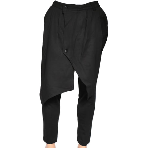 Black modern Pant with front flap II