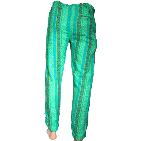 Green Printed dress pant