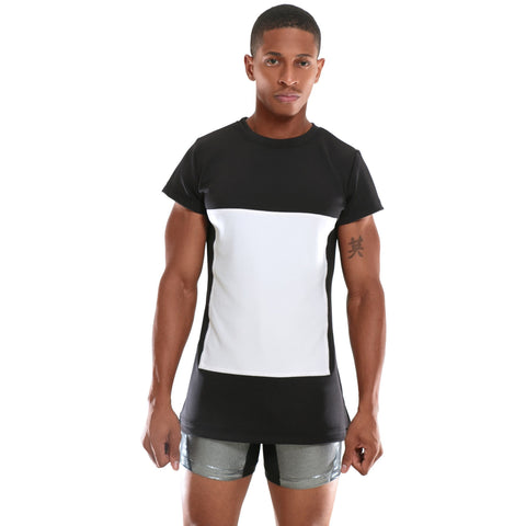 Black and White T-Shirt with square design