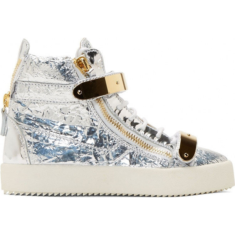 Silver and Gold leather sneaker