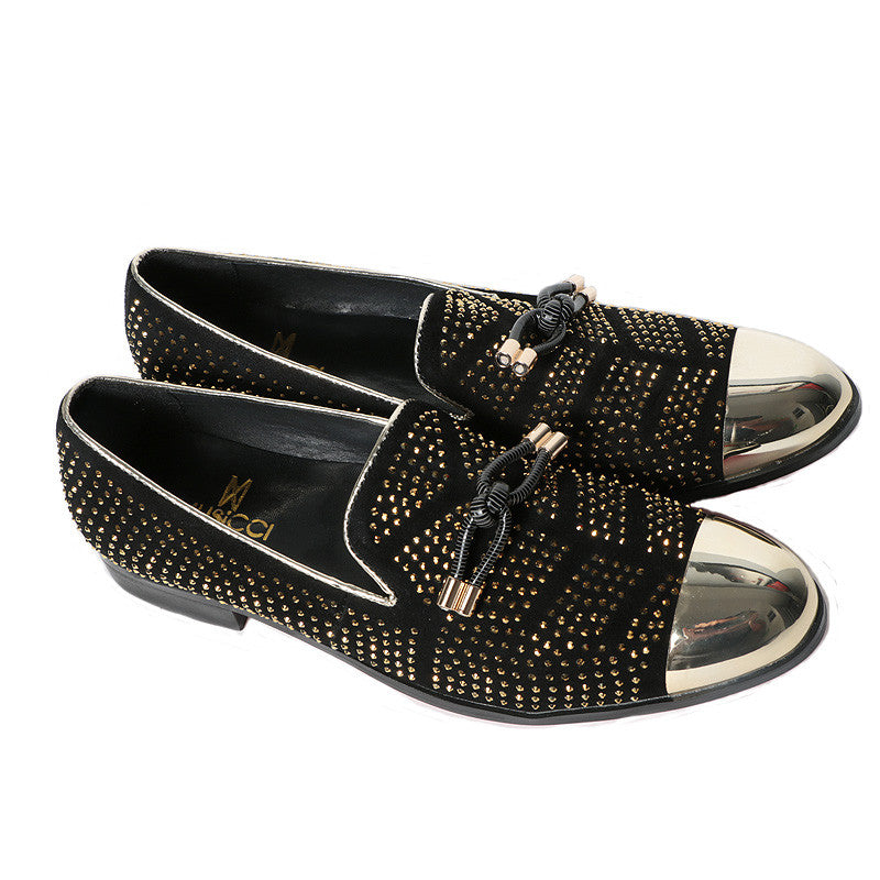 Black Gold studded dress shoe