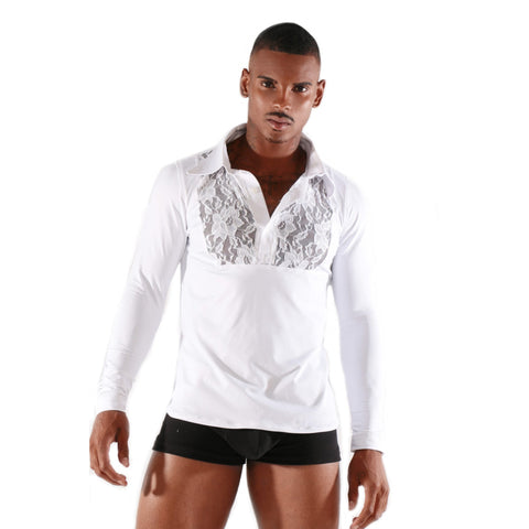 Stretchy Fashion Long sleeve T-Shirt with Mesh