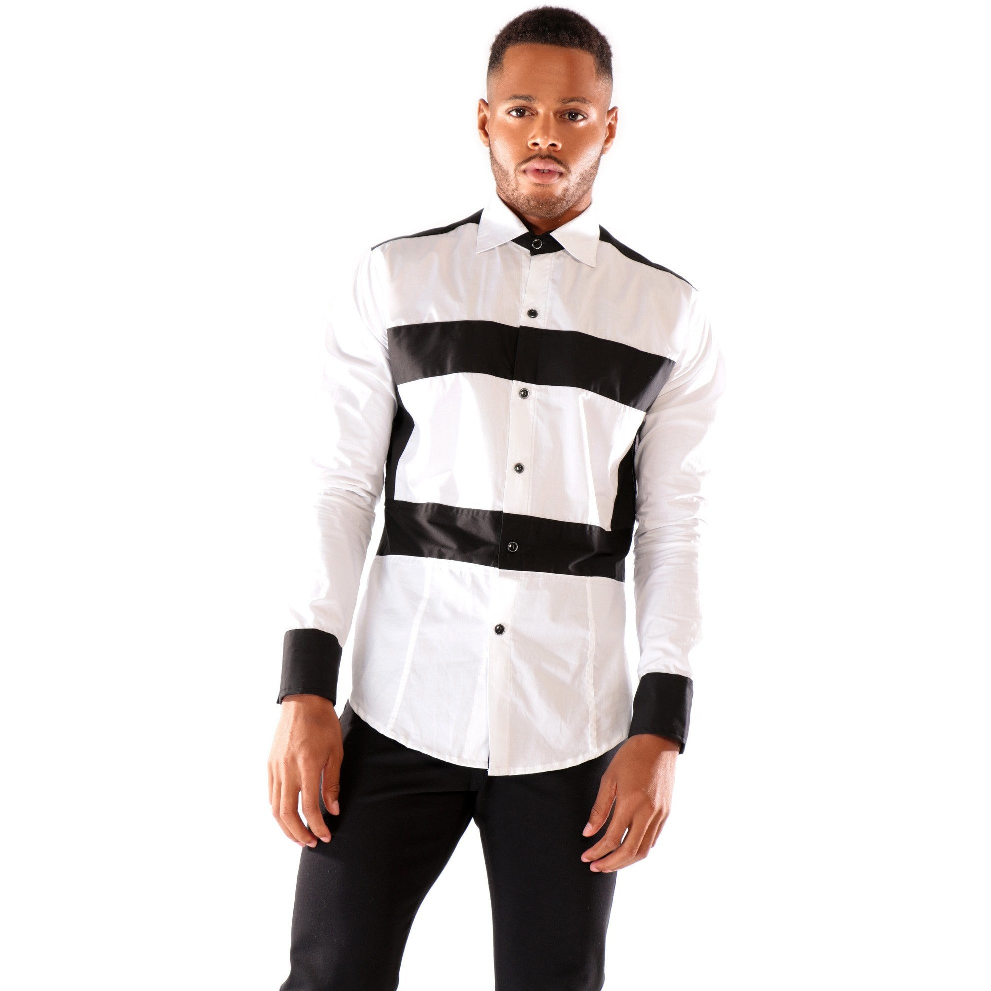 Fashion Long Sleeve T-Shirt with Horizontal stripes