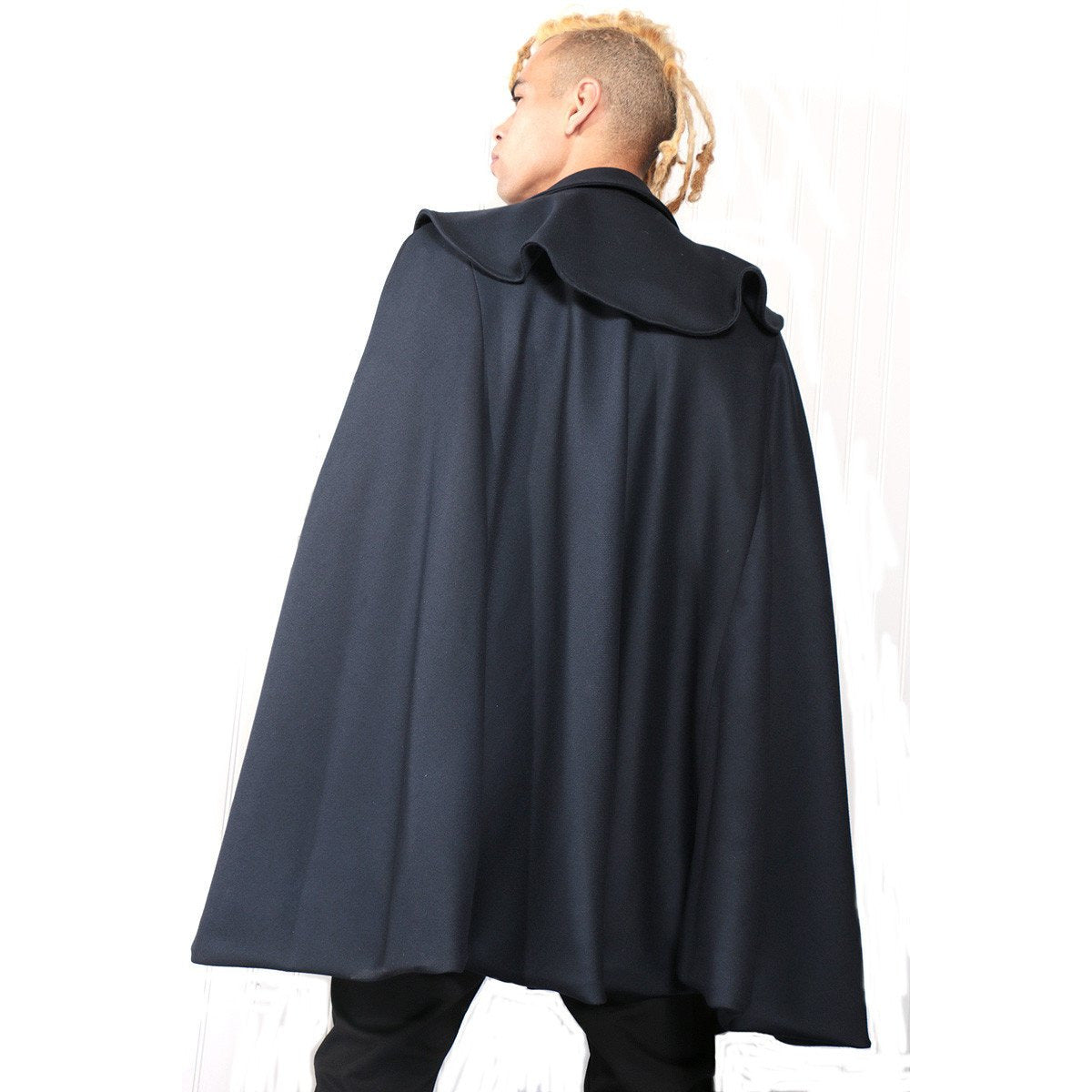 Navy Blue Cape with custom design
