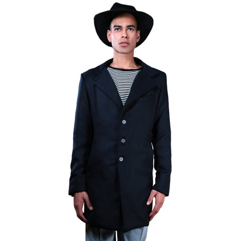 Navy blue slim fit jacket