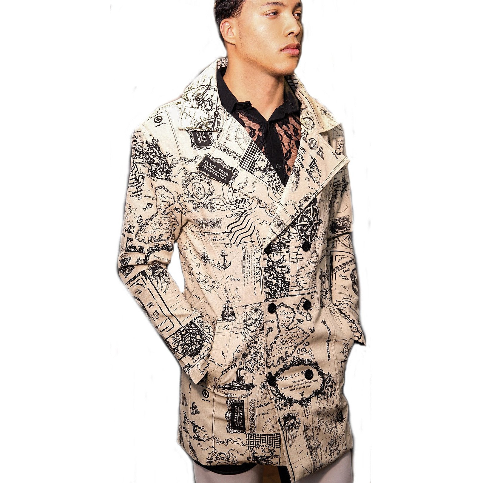 Light weight Graphic Print Jacket