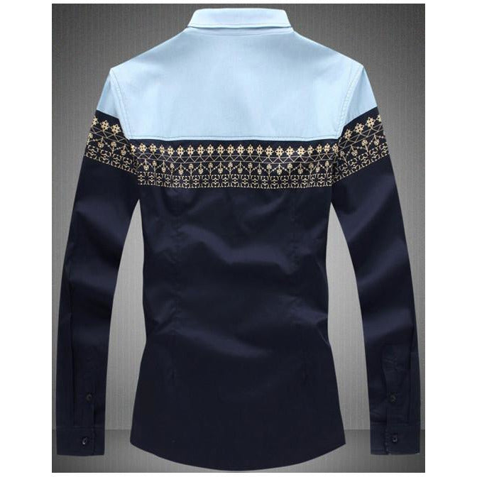 Stylish Navy Blue Long Sleeve