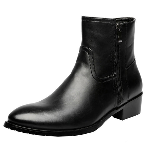 Classic Black High top leather Boot