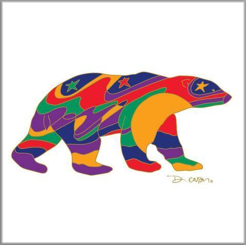 'Alpha Bear' Dawn Oman Ceramic Tile-Trivet