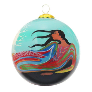 Mother Earth Glass Ornament