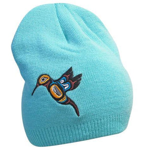 'Hummingbird' Embroidered Knitted Hat