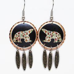 Dawn Oman Spring Bear Artist Collection Copper Earrings