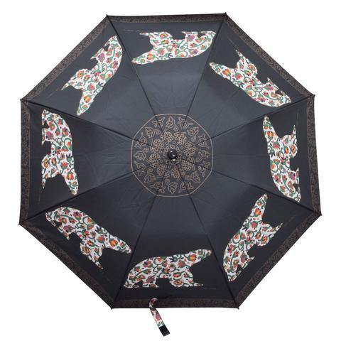 Dawn Oman Spring Bear Artist Collapsible Umbrella