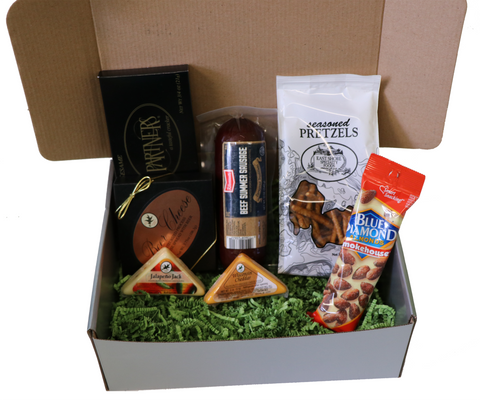 Meat and Cheese Gift Box with Summer Sausage and Wisconsin Cheeses Set  sc 1 st  Catered Cravings & Meat and Cheese Gift Box with Summer Sausage and Wisconsin Cheeses ...
