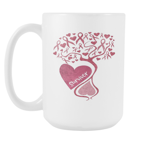 Cancer Awareness and Support Mug Tree of Hope Gift 15oz Mug