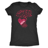 Honor of Mom Cancer Tree of Hope Ribbon Awareness Shirt in Choice of Tanks, Long Sleeve and Tee Fits