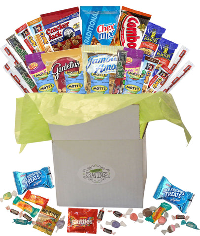 Small Care Package 26 Count plus BONUS Candy Sweet and Salty Assortment