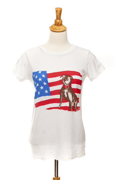 American Bulldog - Vintage White - Distressed Tee