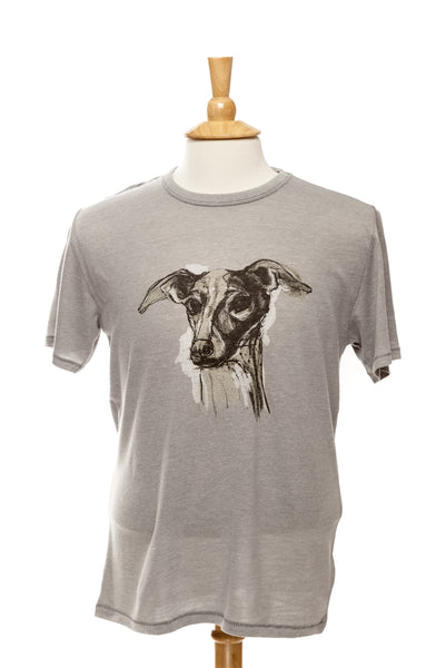 Mia our Italian Greyhound - Mens Vintage Tee