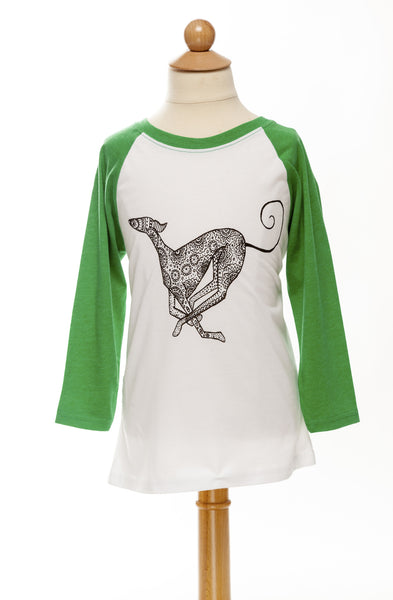 Smiley - Our Running Saluki - Children's Tee - Baseball Tee