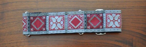Collars for Kings - Red and Silver Martingale