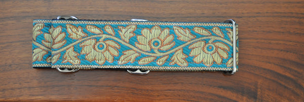 Collars for Kings - Teal and Gold Martingale