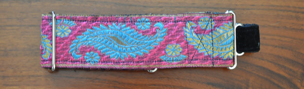 Collars for Kings - Pink Paisley Martingale