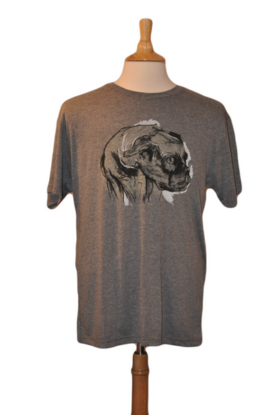 Diego - Our Handsome Bulldog - Men's Tee Heather Grey